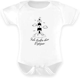 Generisch Ich Liebe die Ostsee Küste Leuchtturm Usedom Rügen Strampler Urlaubserinnerung - Baby Body