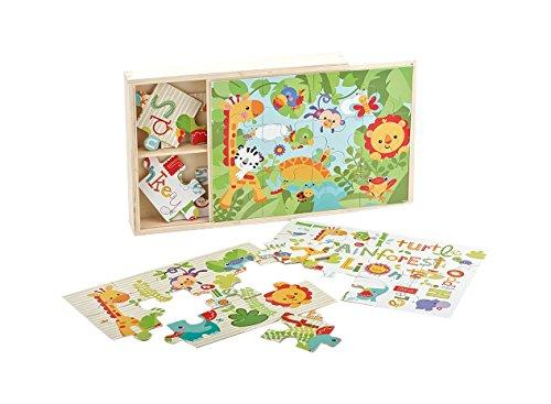 Fisher Price Jouet Ma 1ere Boîte de Puzzle en Bois