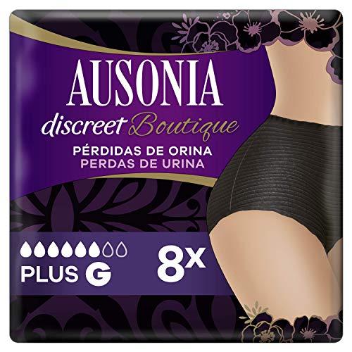 Ausonia Braguitas Para Pérdidas De Orina L Negras, Bloquean El Olor Y La Humedad Y Evitan Fugas 381.4 g