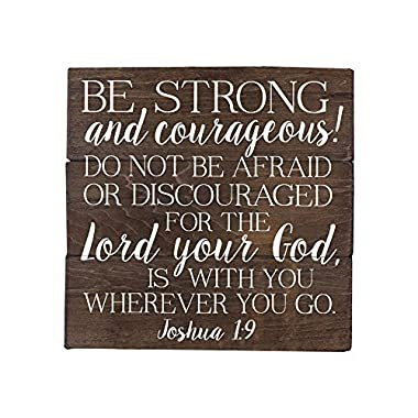 Sincerely Sunshine Joshua 1 9 Be Strong and Courageous Bible Verse Art