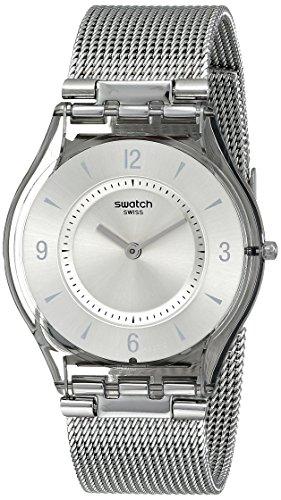 Swatch Orologio da Donna Analogico al Quarzo con Cinturino in Acciaio Inox – SFM118M