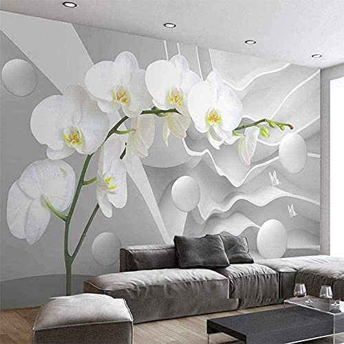 Life Accessories Modern Photo 3D Space Phalaenopsis Flower Photo Mural Living Room Bedroom Sofa Background Wall Decor Custom 3D Paste Living Room The Wall for bedroom 300cm times 210cm