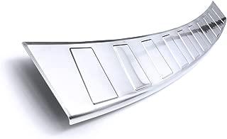 Color:Plata cepillada teileplus24 L626 Acero Inoxidable Parachoques protecci/ón 3D