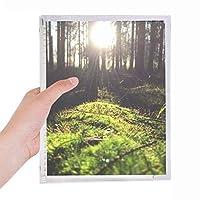 光の林業科学は自然の風景 硬質プラスチックルーズリーフノートノート