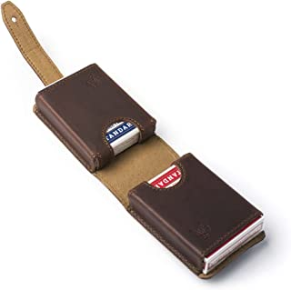 Saddleback Leather Co. Full Grain Leather Poker Cards Deck Holder, Bicycle Cards Safe Storage and 100 Year Warranty Included