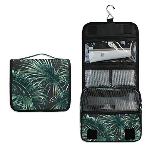 Mr.XZY Bolsa de maquillaje con estampado de palmera, bolsa de cosméticos, bolsa de aseo para mujeres y niñas 2011714