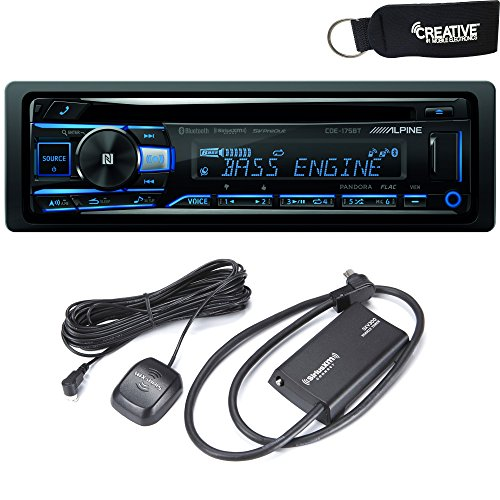 Alpine CDE-175BT CD Receiver with NFC & Bluetooth Wireless Technology - Includes SXV300 SiriusXM Satellite Radio Tuner