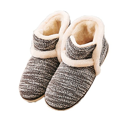 Winter Vintage Boot Slippers Arctic Solid Indoor Coffee 11 B(M) US