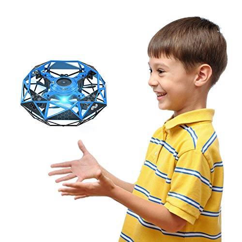 Hand Operated Drone for Kids Toddlers Adults - Hands Free Mini Drones with 6 Sensors, Easy UFO Flying Ball Toys for Boys and Girls, Self Flying Drone 6 7 8 9 10 11 Years Old Kids