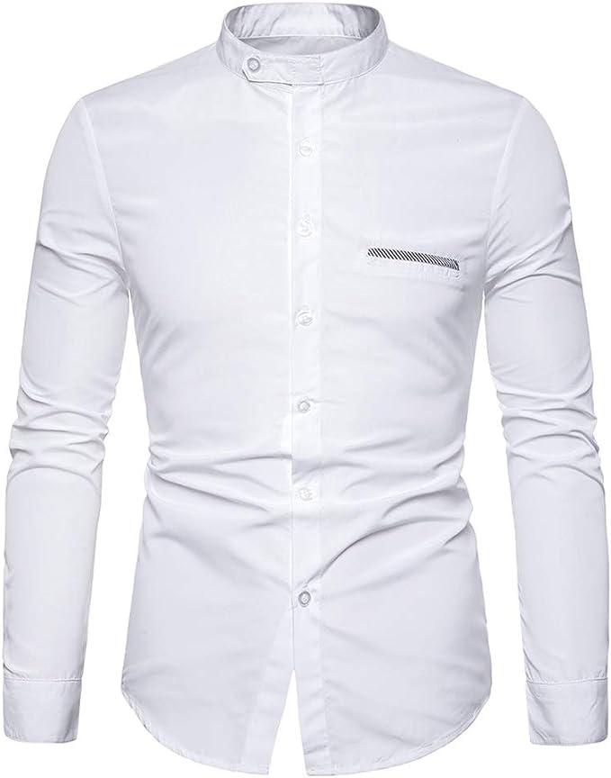 Mr.BaoLong&Miss.GO Camisa De Manga Larga para Hombres Camisa ...