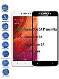 Todotumovil Protector de Pantalla Xiaomi Note 5A Prime Negro Completo 3D Cristal Templado Vidrio Curvo para movil