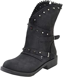 Melady Women Classic Martin Booties Flat Zipper Ankle Boots