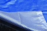 MidWest Canvas SC-BS-000042 Space Age 16 by 32-Feet Rectangular Inground Solar Cover, Blue/Silver
