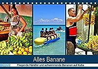 Alles Banane - Fliegende Haendler und schwimmende Bananen auf Kuba (Tischkalender 2022 DIN A5 quer): Bananen im kubanischen Alltag (Monatskalender, 14 Seiten )