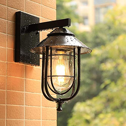 ZJING Outdoor-Vogelkäfig-Wandleuchte, wasserdichte Retro-Schmiedeeisenlampen, Geeignet Für Dekorative Balken, Balkone, Flure, Innenhöfe (Ohne Lichtquelle)