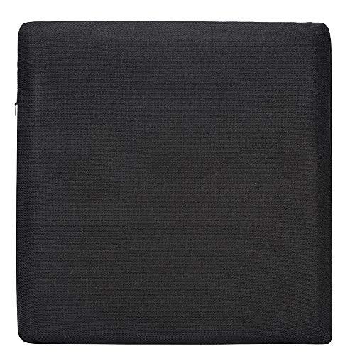 AmazonBasics Memoryschaum-Sitzkissen - schwarz, quadratisch