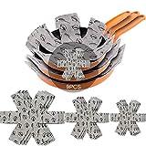 Meiso - Protectores para sartenes y cazuelas, de fieltro, acolchados, de primera calidad, estampado, separan y protegen las superficies de sus utensilios de cocina para evitar que se rayen, 9 unidades