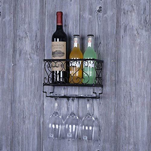 COLiJOL Porta Botellas Estante para Vino Estantes para Vino Portavasos de Hierro para Vino Estante para Vino Multiusos Montado en la Pared Bares Salas de Estar Hoteles Restaurantes Decoración Estante