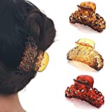 Runmi - Fermagli per capelli neri per capelli con clip, taglia media, accessori per capelli per donne e ragazze (confezione da 3)