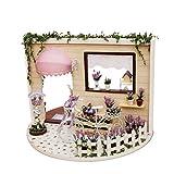 GODNECE DIY Miniatur Haus 3D Puppenhaus Holz Bausatz Puppenhaus Kit DIY Puppenhaus Bausatz...