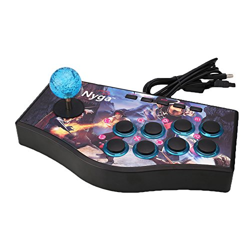 Cewaal Wired Arcade Street Joystick Gamepads Fighting Stick USB Game Controller For PS2 PS3 PC (Best Street Fighter Game For Ps2)