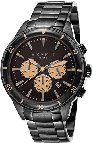 Esprit Reloj de Cuarzo Man Negro 45 mm