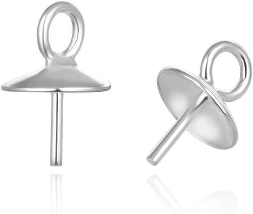 500pcs 304 Stainless Steel Eye Pins 21-Gauges Smooth Drilled Loop Findings 50mm