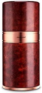 JFYHZ Cigar Tube, Travel Portable Cigar Moisturizer, with Hygrometer Moisturizer 7 Sticks, (Color : Brown)