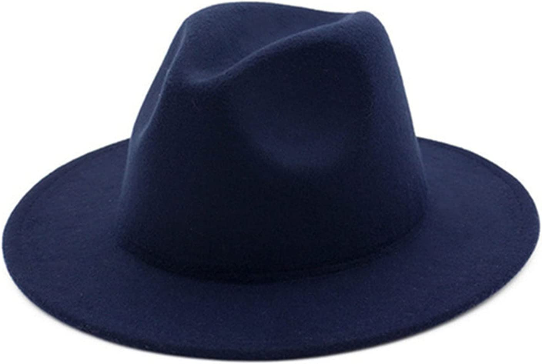 LHQ-HQ Womens Mens Retro Classic Wide Brim Floppy Panama Hat Women Classic Fedora Hat, Hat Circumference 56-58Cm/22-22.8 Inch,A