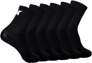6 Pares de Calcetines para Hombre y Mujer Calcetines Deportivos Malla Transpirable Calcetines Zapatilla, Antideslizantes, Ajuste cómodo, Gimnasio, Ciclismo,Tenis, Correr, Uso Diario
