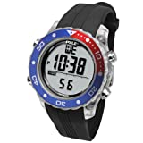 Digital Multifunction Sports Wrist Watch - Waterproof Smart Fit Classic Men Women Water Sport Swimming Fitness Gear Tracker w/ Chronograph, Countdown, Dual Time, Diving Mode - Pyle PSNKW30BK (Black)