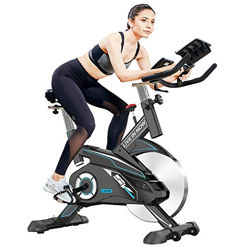 pooboo Exercise Bike Belt Drive Indoor Cycling Bike with 35lbs Flywheel Spin Bikes for Home Cardio Workout Bike