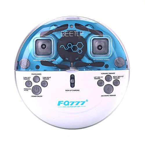 AICase FQ777 FQ04 4CH 2.4GHz 6-axis Gyro Romote Control RC Video Mini Pocket RTF Quadcopter Helicopter Drone UFO with 0.3MP Camera (Blue)