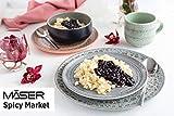 MÄSER 931743 Serie Spicy Market Handbemaltes Geschirr Set für 4 Personen in mediterranem Vintage Design, 16-teiliges Kombiservice aus Keramik, Rosa, Steingut - 2
