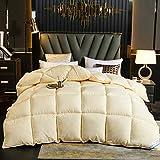 Bettdecke 4 Jahreszeiten 95% weiße Gänsedaunen Winterbett Anti Allergie Einzelbett/Winterbett Doppelbett-H_180x220cm - 3.5kg