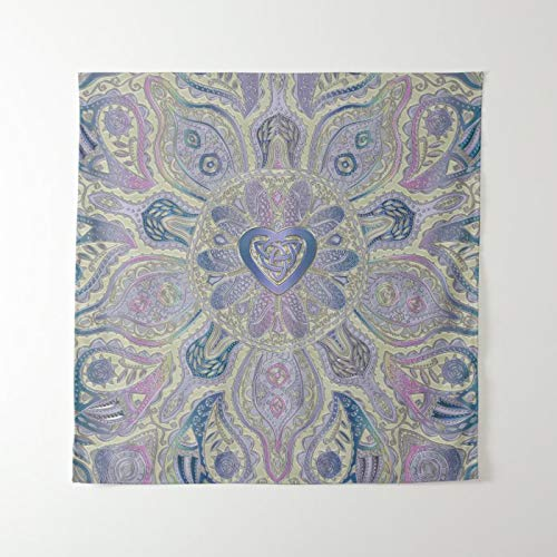 McC538arthy Mandala Tapestry 59.1x39.4inch Bohemian Tapestries Psychedelic Wall Hanging Celtic Heart Knot Mandala Wall Tapestry Home Decoration for Bedroom Dorm Living Room