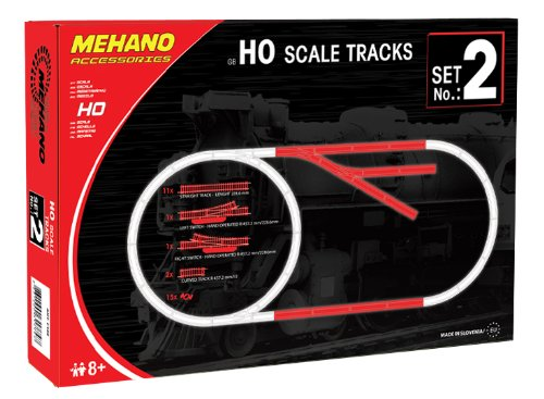 Mehano Accesorios para pistas, Track Set No.2, escala H0 (F102)