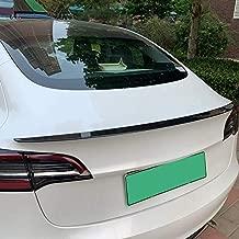 ABS Carbon Fiber Back Rear Wing Spoiler Cover Trim for Tesla Model 3 Car Accessories 2018 2019