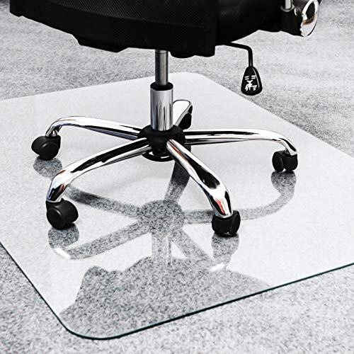Glaciermat Reinforced Glass Executive Chair Mat 40' x 53' for Hard Floors and All Pile Carpets