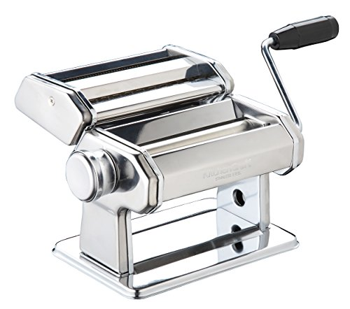KitchenCraft World of Flavours Pasta Machine, Stainless Steel, Silver