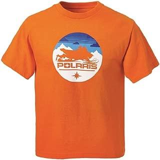 Polaris Youth Circle Sled Tee Orange XLarge