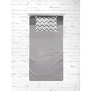 Bacati – Mix N Match Zigzag/dots 3 Pc Toddler Bed Sheet Set