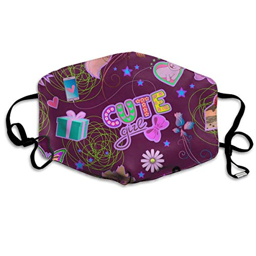 One Size 4.3 X 7 Inches. 100% Polyester Fiber. Use: Washable, Reusable, Easy To Care For Durability. One Size Fits All - Ergonomic Cut On Nose And Adjustable Elastic Is Enough For Cover Nose, Mouth And Face,very Comfort To Wear And Effortless Breatha...