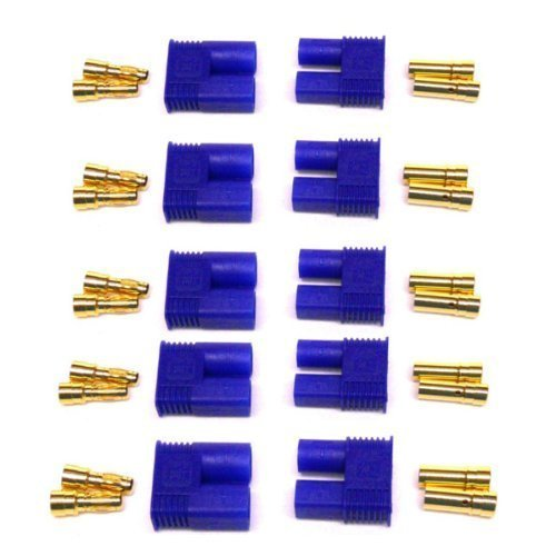MARKETTY Male/Female EC3 Style Connector w/3.5mm Gold Bullet Plug(pack of 5 pairs )