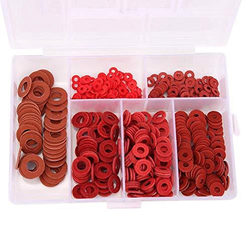 Isolierscheibe Premium-Qualitätspackung mit 500 Edelstahl-Flachscheiben Isolierdichtungen Metall-Pads-Kit