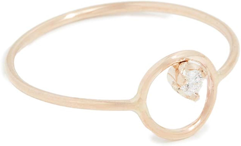 Zoe Chicco Women's 14k Gold Paris Circle Stacking Ring