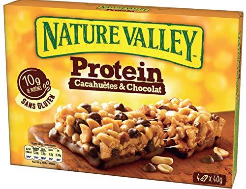 Nature Valley Barres de Céréales Protein Cacahuètes & Chocolat 4 Unités