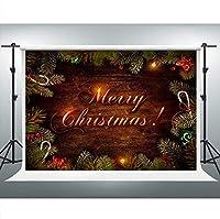 新しいメリークリスマス背景クリスマスパーティー素朴な木の板の背景7x5ft写真ブーススタジオ小道具パーティー装飾 988