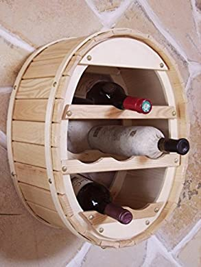 Foto di DanDiBo Scaffale Vini Botte da Appendere per 6 Bottiglie Verniciatura Naturale -