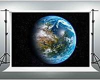 写真をテーマにしたパーティーの背景7x5フィートの写真ブーススタジオ小道具PGGE387のHD背景青い地球の写真の背景